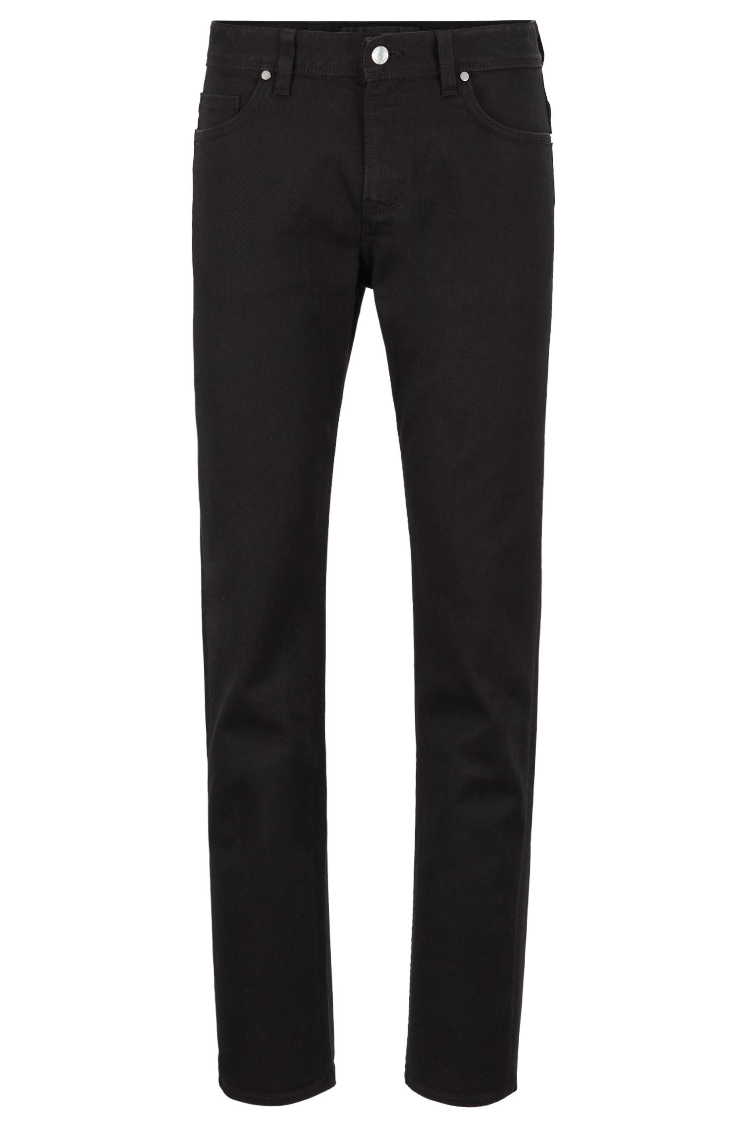 Jean Slim Fit en denim stretch de coton BCI, Noir
