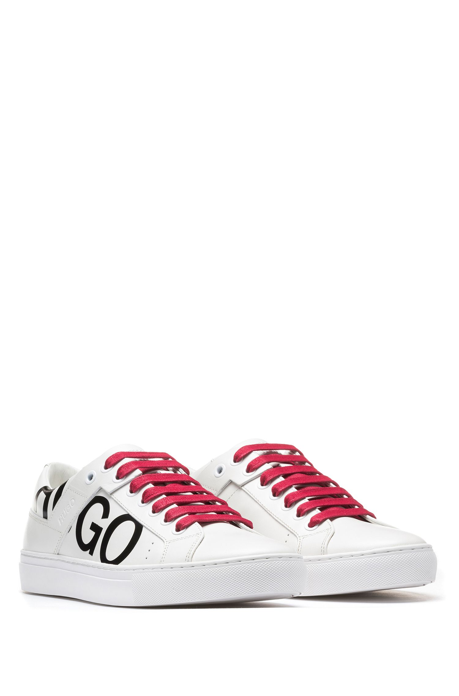 Hugo Boss - Leather lace-up trainers with logo detail - 2
