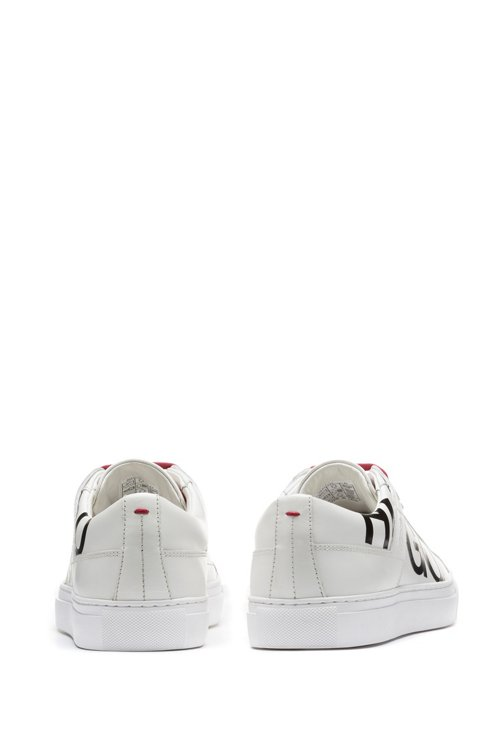 Hugo Boss - Leather lace-up trainers with logo detail - 5