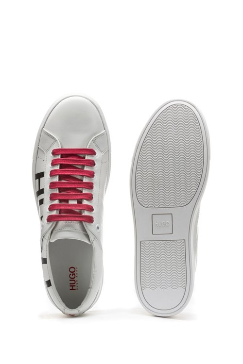 Hugo Boss - Leather lace-up trainers with logo detail - 4