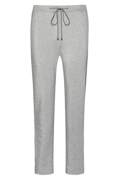 Pantalon de jogging à cordon de serrage en jersey lourd, zippé au bas des jambes, Gris