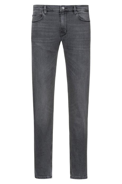 Slim-fit jeans in grey stretch denim, Grey