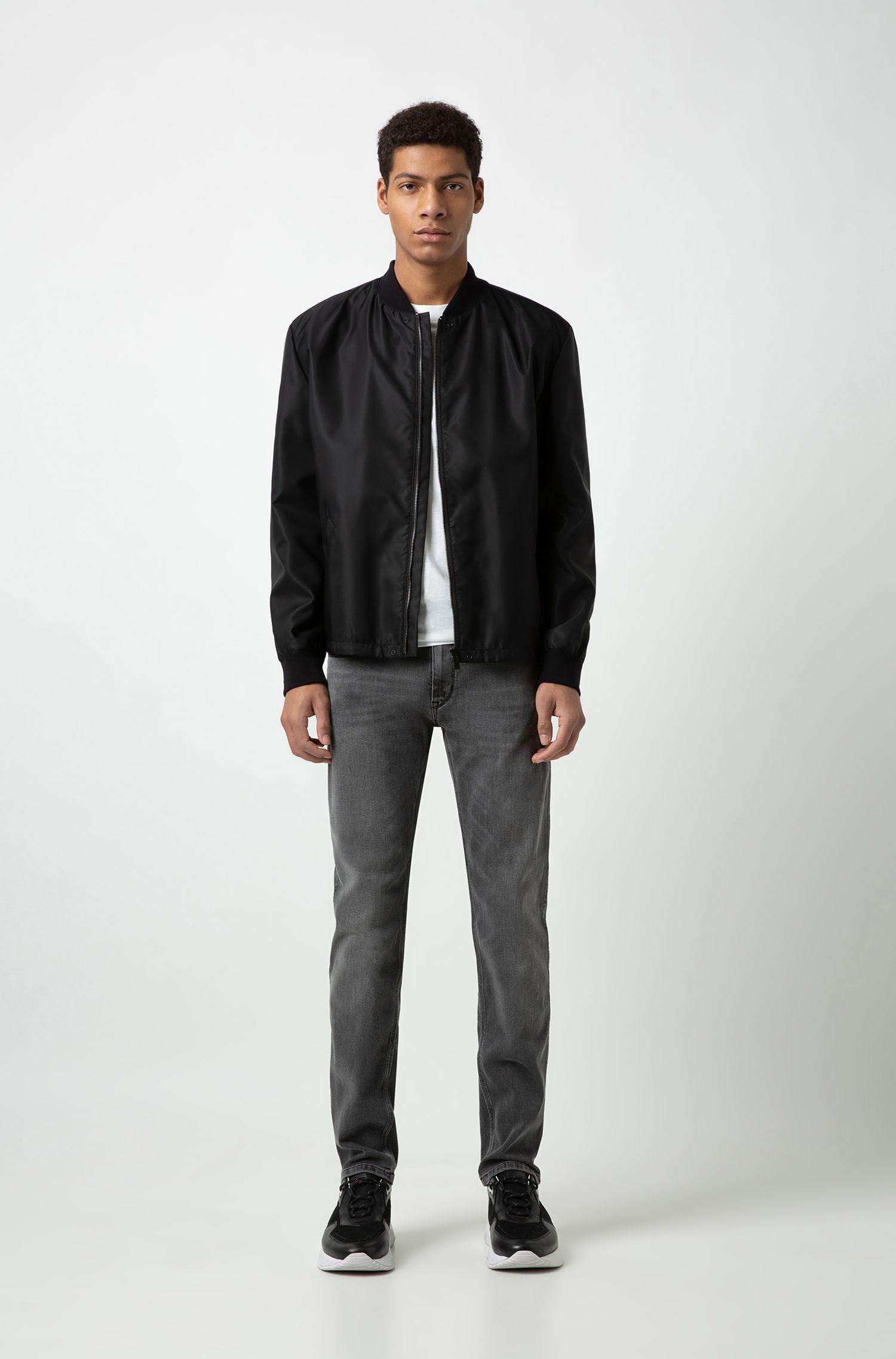Slim-fit jeans van grijs stretchdenim, Grijs