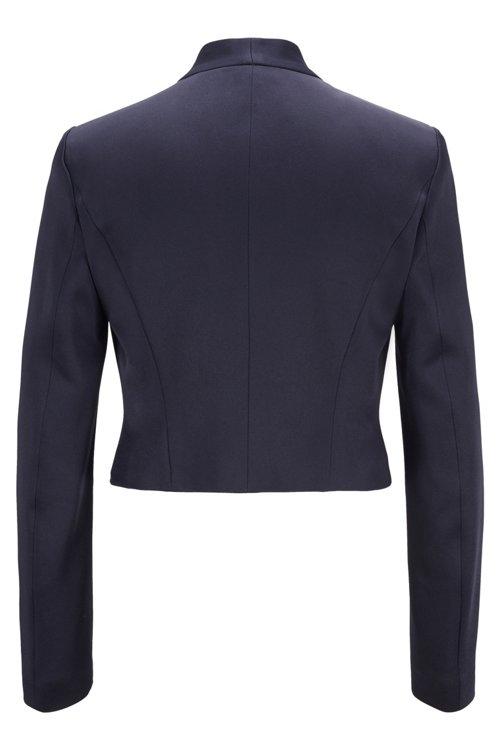 Hugo Boss - Edge-to-edge slim-fit jacket in lustrous Italian fabric - 4