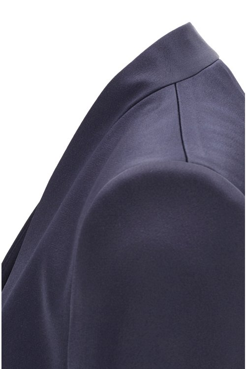 Hugo Boss - Edge-to-edge slim-fit jacket in lustrous Italian fabric - 5