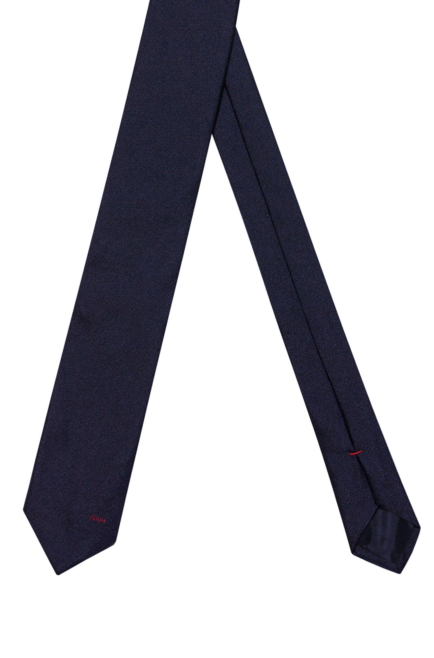 Stropdas in een jacquard van zijde met gespiegeld logo, Bedrukt