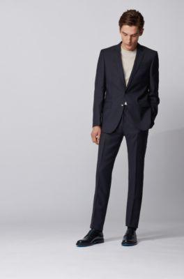 40 Navy Blauen Anzug Schwarze Schuhe Modelle Für Herren