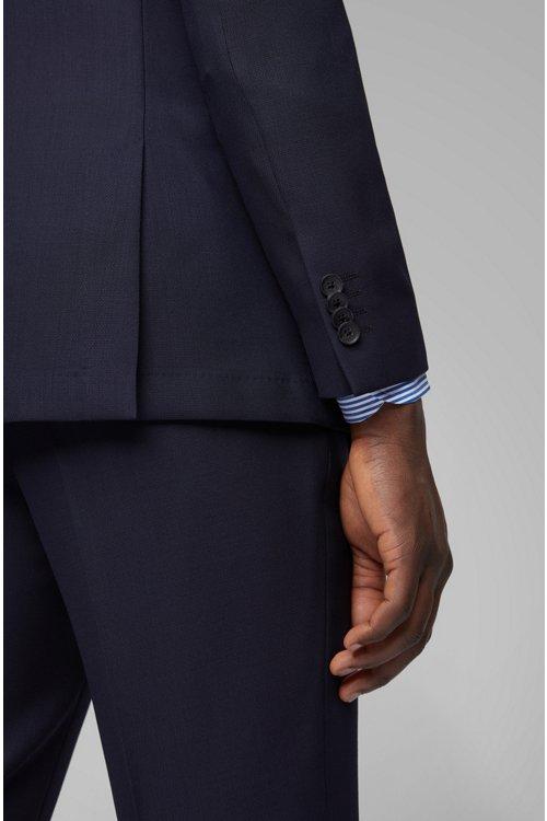 Hugo Boss - Traje slim fit en lana virgen con microestampado - 9