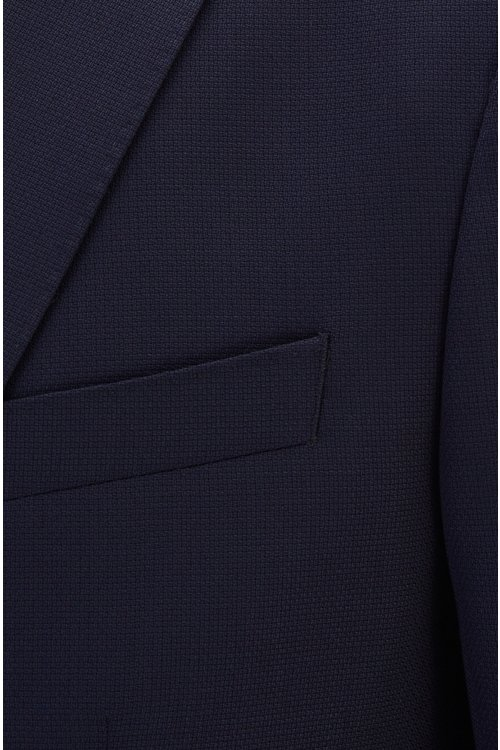 Hugo Boss - Traje slim fit en lana virgen con microestampado - 4