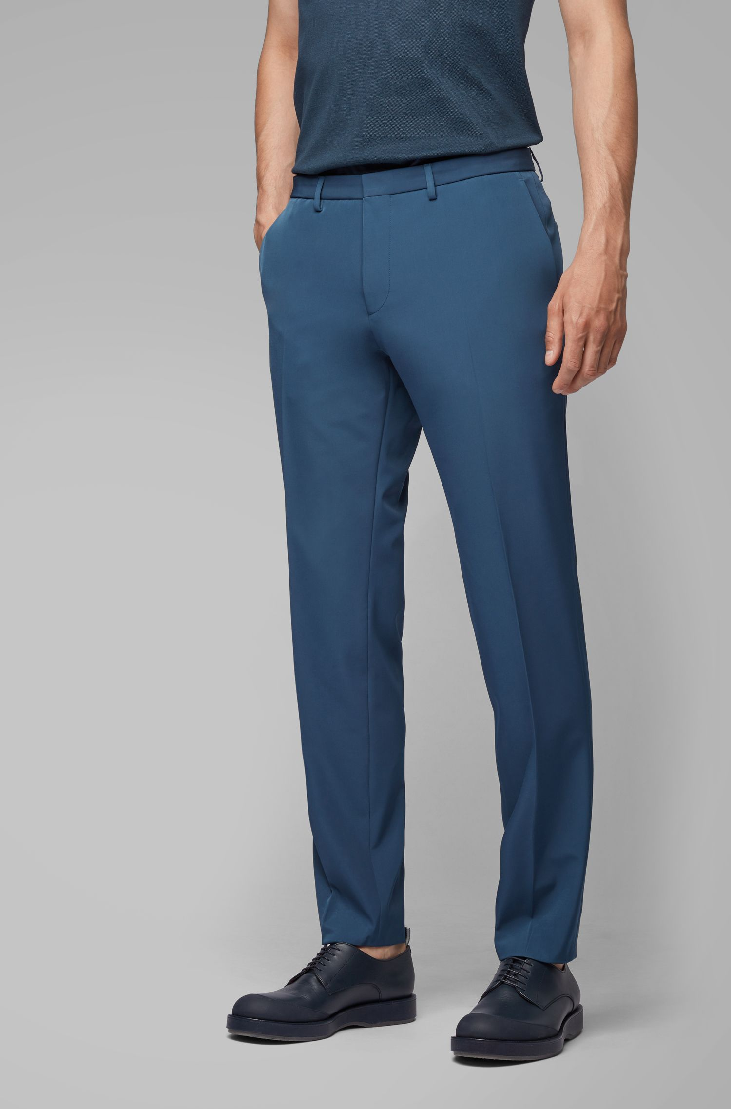 Extra Slim-Fit Anzug mit nahtloser Verarbeitung, Blau