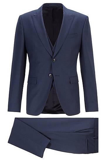 boss  Costume trois pièces Extra Slim Fit en laine vierge Extra slim fit... par LeGuide.com Publicité
