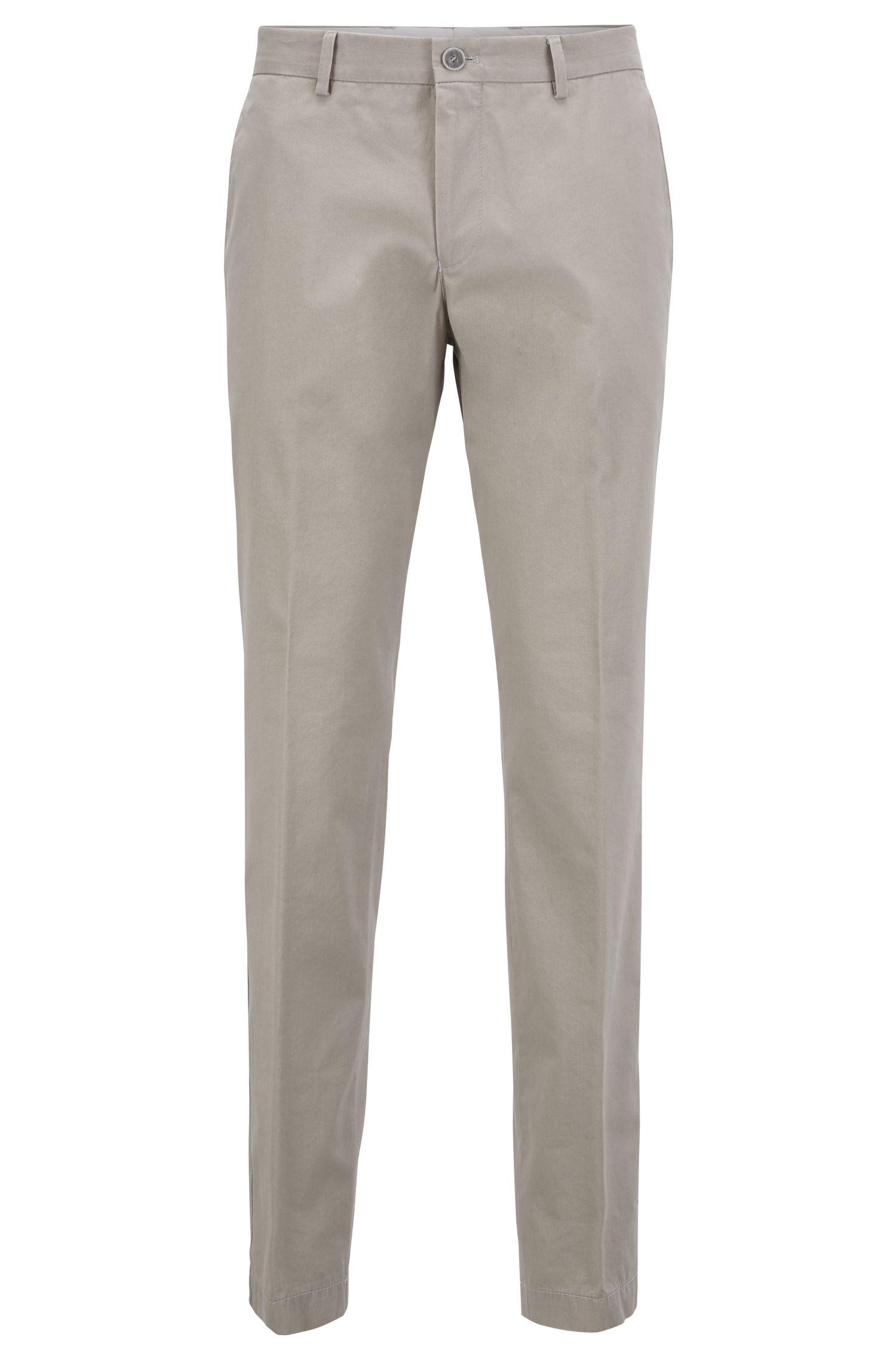 Pantalon SlimFit en coton chiné à la finition lavée, Chair