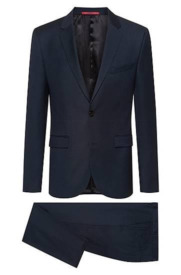 hugo  Costume Extra Slim Fit en laine vierge à motif Extra slim fit Revers... par LeGuide.com Publicité