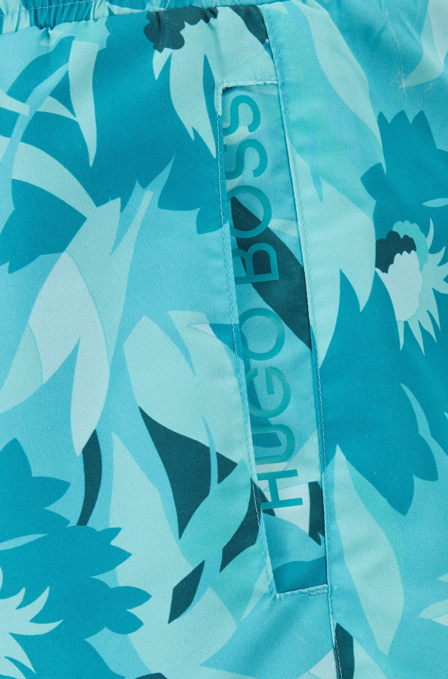 Short de bain au séchage rapide, avec détail logo, Turquoise