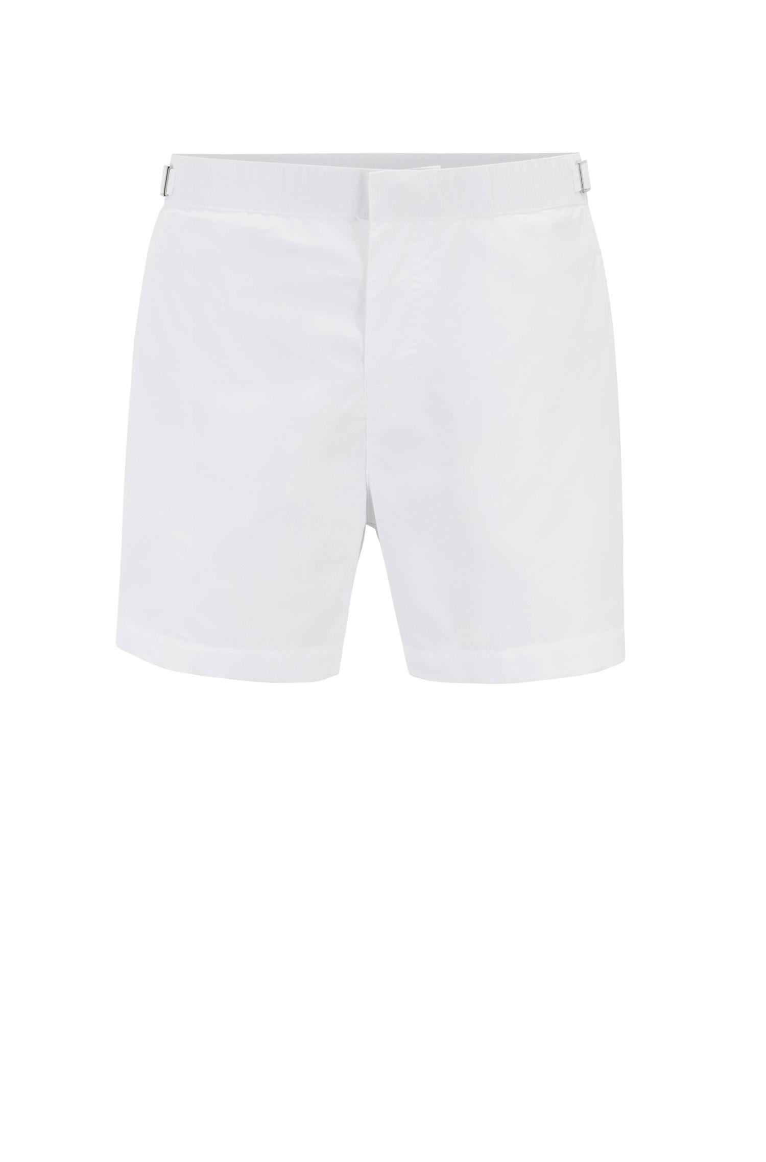Sneldrogende zwemshort met print en verstelbare tailleband, Wit