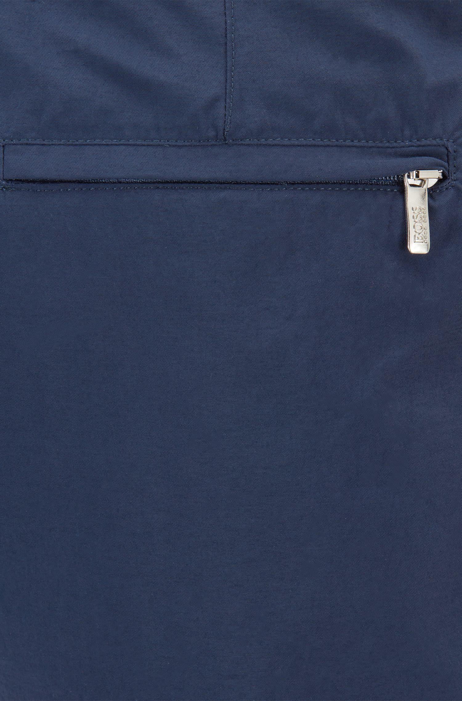 Short de bain imprimé à séchage rapide, avec taille ajustable, Bleu vif