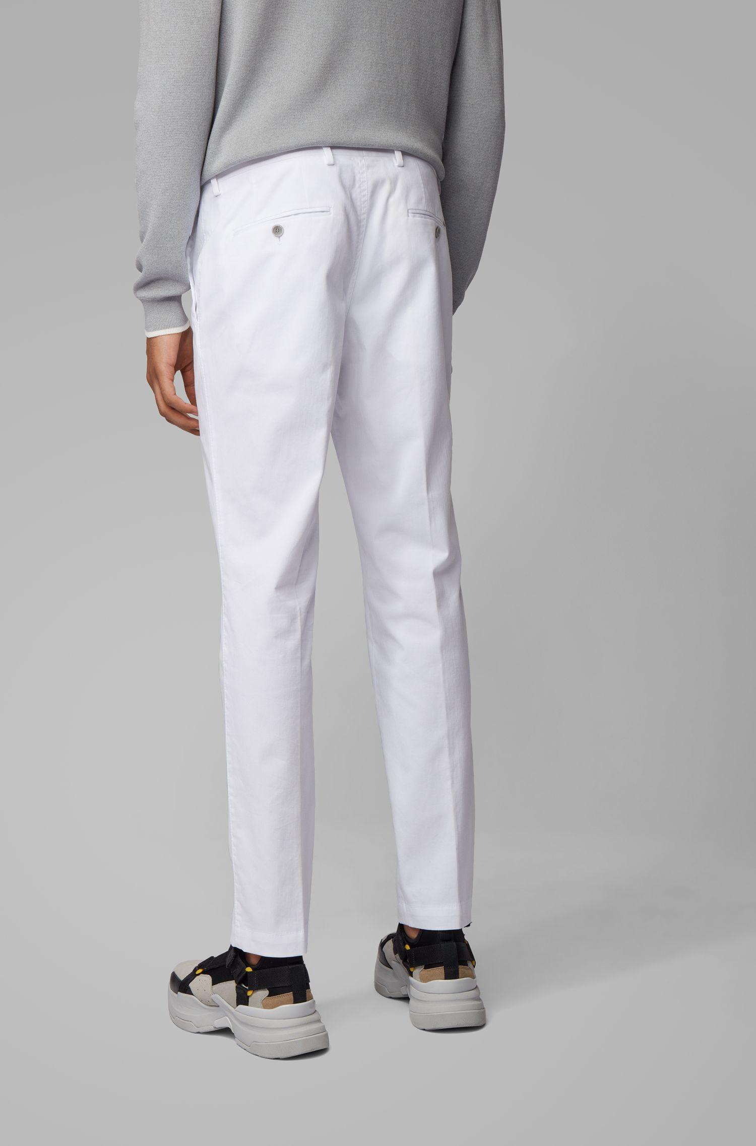 Pantalon SlimFit en coton stretch lavé, Blanc