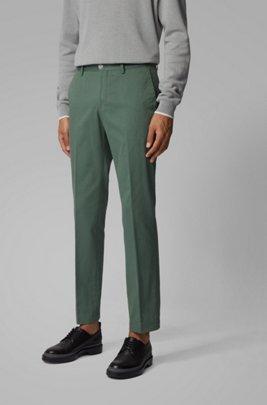 Pantalon SlimFit en coton stretch lavé, Vert