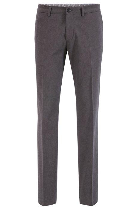 Pantalones extra slim fit de algodón elástico jaspeado, Gris