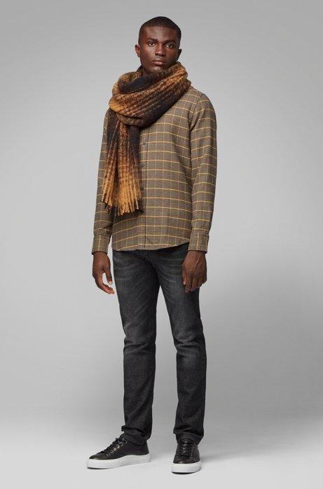 bajo precio 635f3 8f141 BOSS - Bufanda a cuadros en mezcla de lana