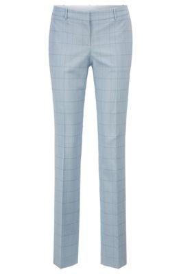 Pantalon Regular Fit en mélange de laine et de soie italien, Fantaisie