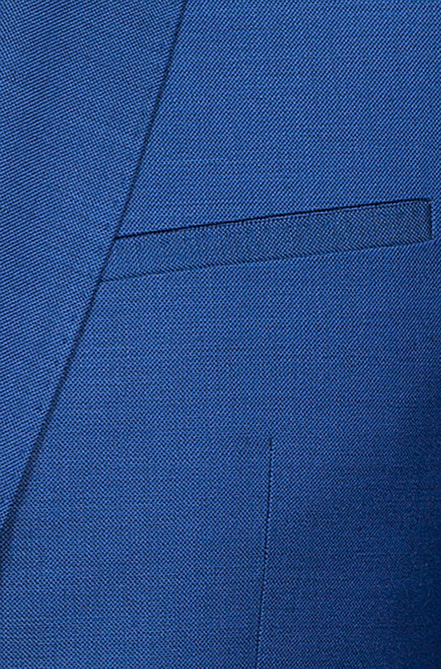 Extra Slim-Fit Sakko aus Schurwoll-Twill, Blau