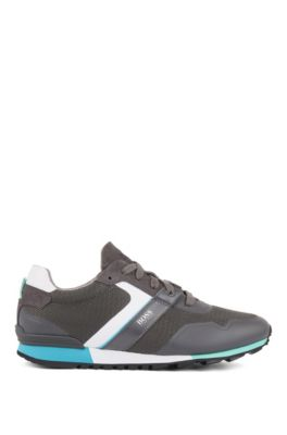 Hybrid trainers with bamboo-charcoal lining and lightweight sole, Dark Grey