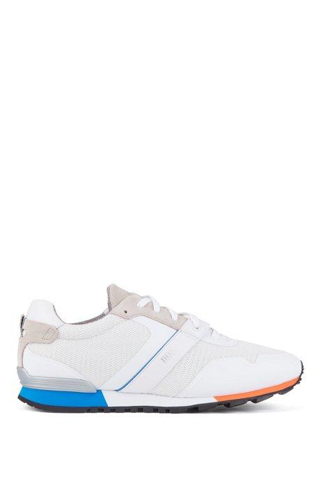 Sneakers ibride con fodera interna in carbone di bambù e suola leggera, Bianco
