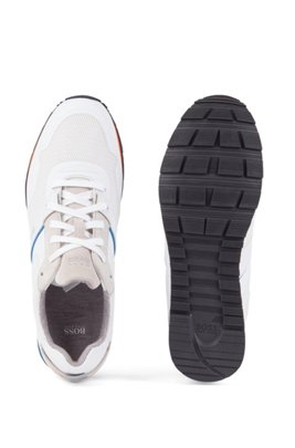 Hybrid trainers with bamboo-charcoal lining and lightweight sole, White