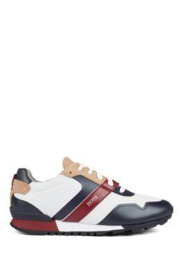 Hybride sneakers met voering van bamboe-koolstof en lichte zool, Lichtbeige
