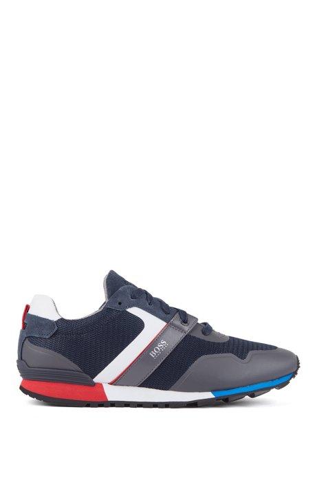 Hybride sneakers met voering van bamboe-koolstof en lichte zool, Donkerblauw