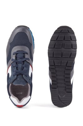 Hybrid trainers with bamboo-charcoal lining and lightweight sole, ダークブルー