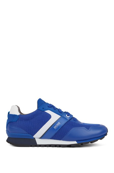 Hybrid trainers with bamboo-charcoal lining and lightweight sole, Blue