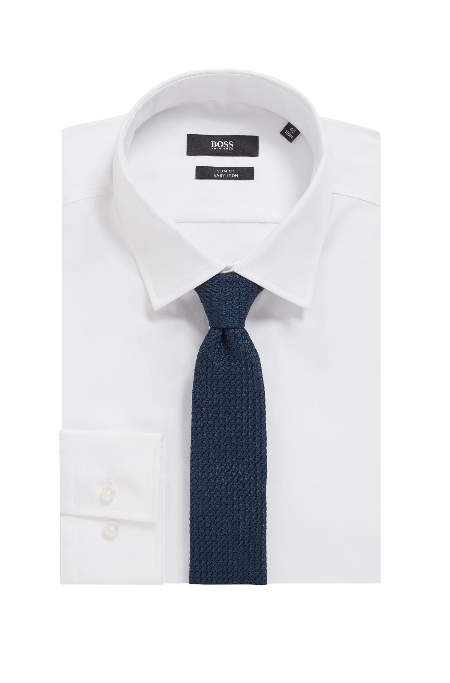 Cravate confectionnée à la main en pure soie, à la finition roulottée, Chaux