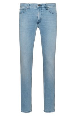 Jeans skinny fit in denim elasticizzato effetto vintage, Celeste