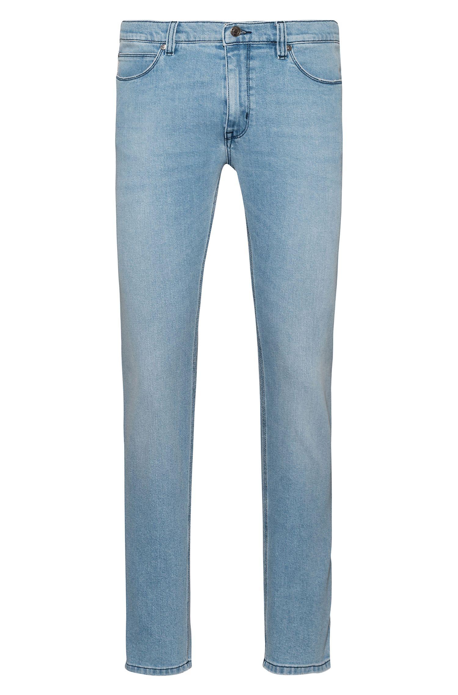 Skinny-Fit Jeans aus Stretch-Denim in Used-Optik, Hellblau