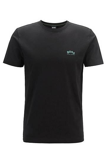 boss  T-shirt en jersey de coton à logo incurvé Regular fit Col rond À... par LeGuide.com Publicité