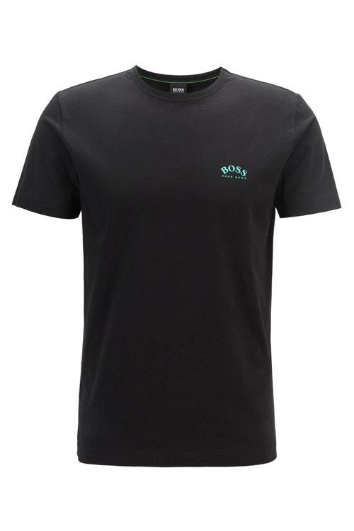 Hugo Boss - Camiseta de punto de algodón con logo curvado - 1