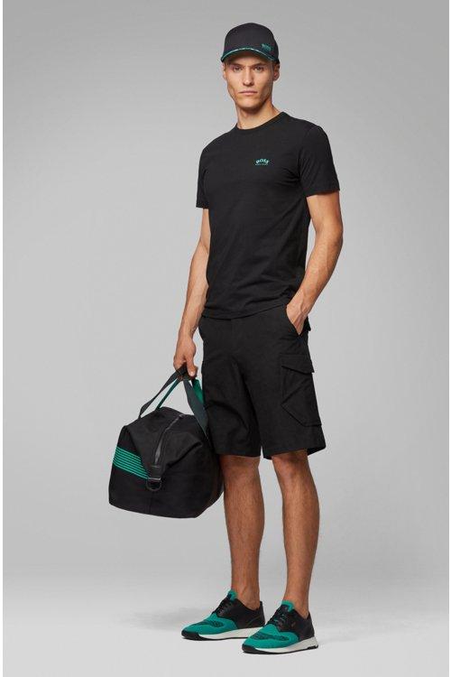 Hugo Boss - Camiseta de punto de algodón con logo curvado - 2