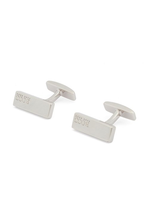 Hugo Boss - Hand-polished rectangular cufflinks with logo engraving - 1
