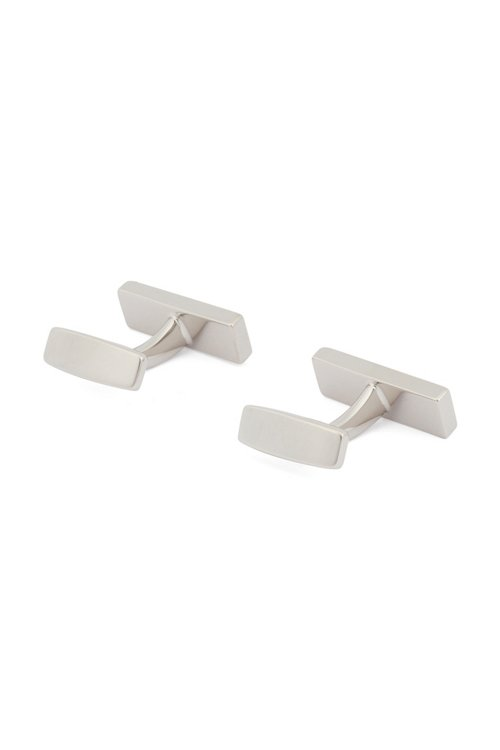 Hugo Boss - Hand-polished rectangular cufflinks with logo engraving - 3