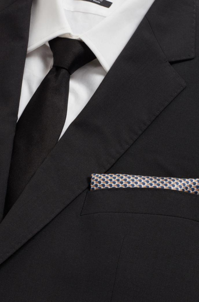 In Italien gefertigtes Einstecktuch aus reiner Seide mit Muster