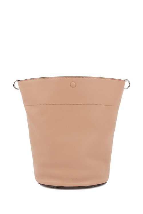 Hugo Boss - Bucket bag in calf leather with knotted top strap - 1