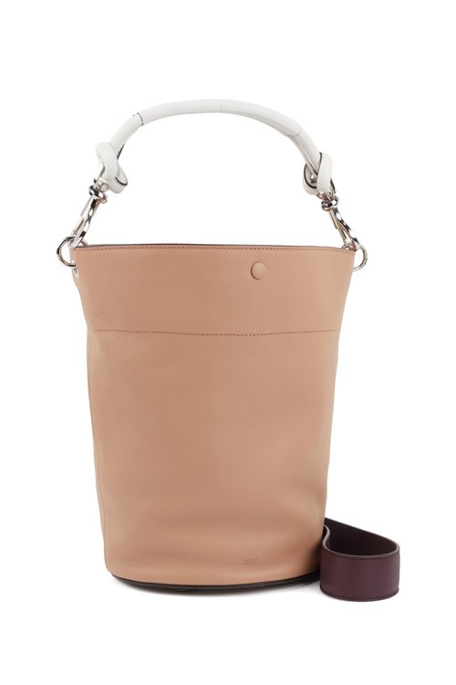 Hugo Boss - Bucket bag in calf leather with knotted top strap - 4