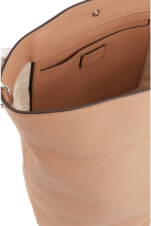 Hugo Boss - Bucket bag in calf leather with knotted top strap - 5