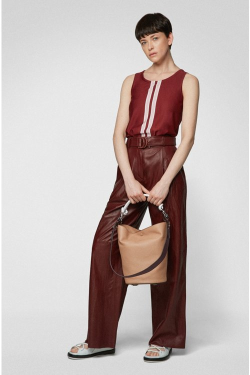 Hugo Boss - Bucket bag in calf leather with knotted top strap - 2