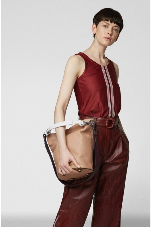 Hugo Boss - Bucket bag in calf leather with knotted top strap - 3