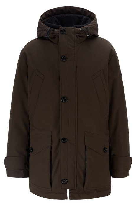 Regular-fit parka in two-layer water-repellent fabric, Open Green