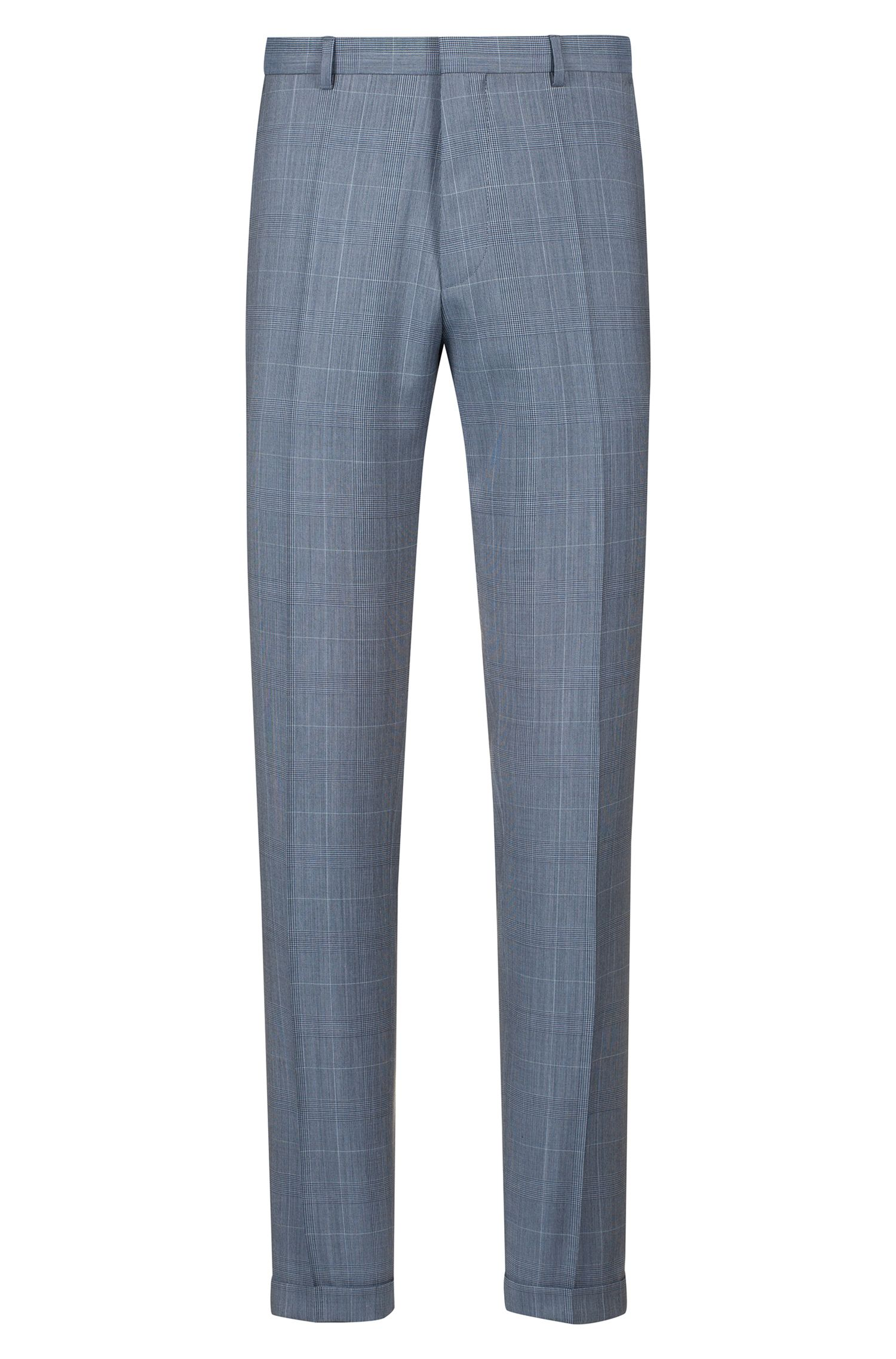 Extra-slim-fit suit with Prince of Wales check, Patterned