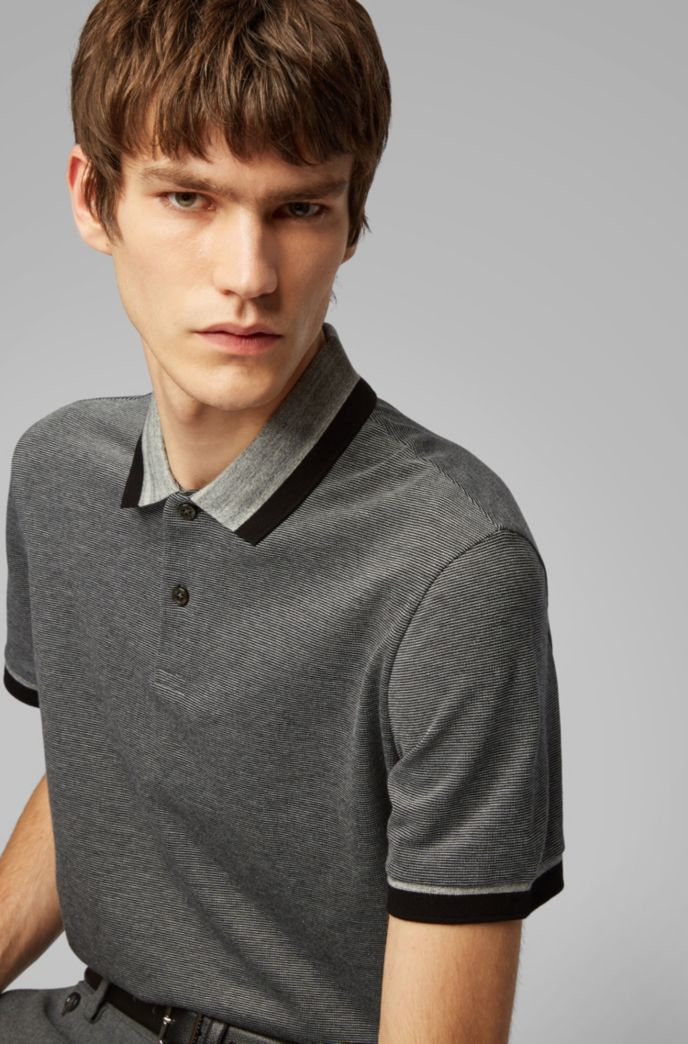 Polo regular fit in cotone mouliné a righe